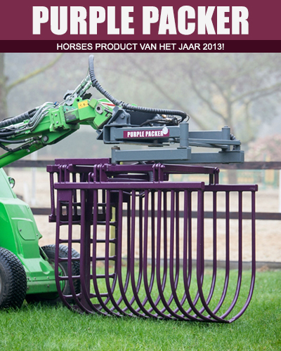 Purple Packer van Purple Products, de uitmestklem zonder enig handwerk